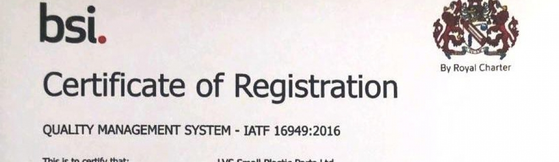 LVS SPP Achieves IATF 16949 Certification